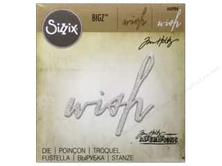 Sizzix Bigz Dies Handwritten Wish by Tim Holtz