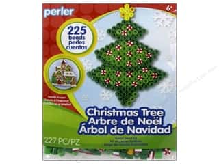 beading & jewelry making supplies: Perler Fused Bead Kit Trial Christmas Tree