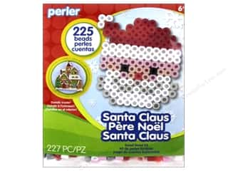 beading & jewelry making supplies: Perler Fused Bead Kit Trial Santa