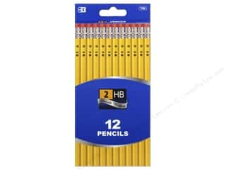 craft & hobbies: Bazic Basics #2 HB Pencil 12 pc. Yellow Writing