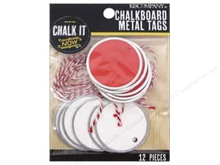 K&Company Chalk It Now Tag Metal Small Circle Red
