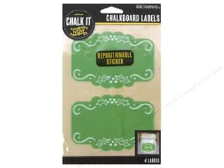 K&Company Chalk It Now Label Scroll Frame Green