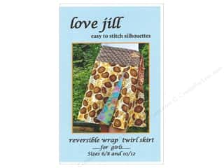 Love Jill Reversible Wrap Twirl Skirt For Girls Sizes 6-12 Pattern