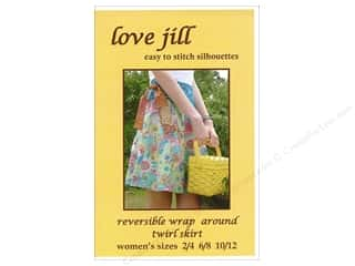 Love Jill Reversible Wrap Twirl Skirt For Women Sizes 2-12 Pattern