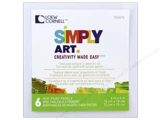 "Loew Cornell Simply Art Canvas Paint Panels 4""x 4"" Picture"