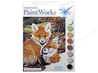 Paintworks Paint By Number Kit 9 x 12 in. Fox Hole