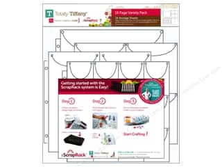 Weekly Specials Paper Accents: Totally Tiffany Organizers ScrapRack Storage Sheet Value Pack 16pc
