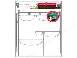 Weekly Specials Doodlebug Paper Pack: Totally Tiffany Organizers ScrapRack Basic Storage Pages Variety Pack 55pc