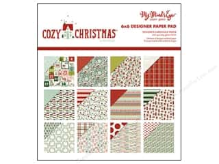 "Bo Bunny Paper Pads 6""x 6"": My Minds Eye Collection Cozy Christmas Paper Pad 6""x 6"""