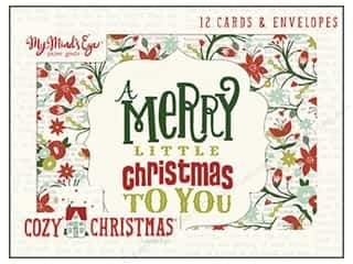 "Cards & Envelopes  4.25"" x 5.5"": My Minds Eye Collection Cozy Christmas Card Set"