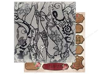 Bo Bunny 12 x 12 in. Paper Love & Lace Lace (25 sheets)