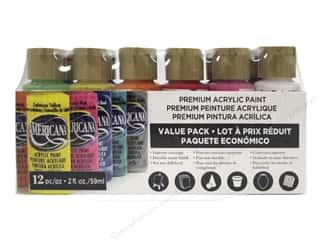 black acrylic paint: DecoArt Americana Acrylic Paint 12 pc. Value Pack