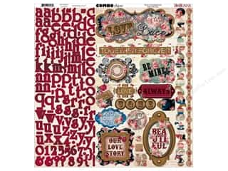 stickers: Bo Bunny Stickers Love & Lace Combo (6 sets)
