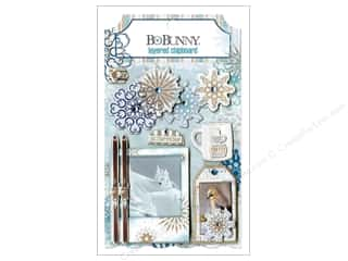 chipboard stickers: Bo Bunny Layered Chipboard Stickers Whiteout