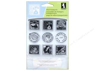 Inkadinkado InkadinkaClings Clear Stamp Inchies Bundle Postage