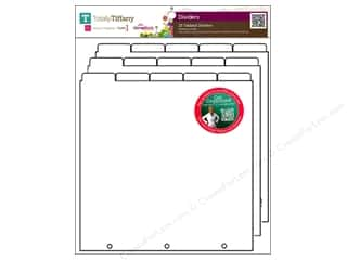 Weekly Specials Scrapbooking Organizers: Totally Tiffany Organizers ScrapRack Tabbed Divider 15pc