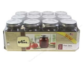 Glass Jars / Plastic Jars: Kerr Jars Mason Regular w/Cap Pint