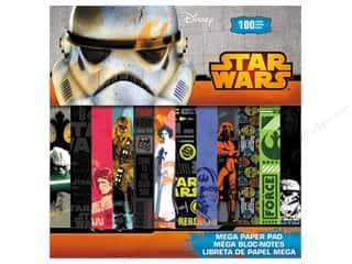 patterned paper: SandyLion 12 x 12 in. Paper Pad Disney Star Wars Mega