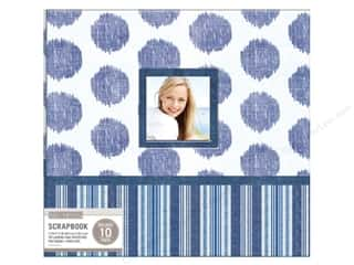 K & Company 12 x 12 in. Scrapbook Window Album Vintage Collage Blue