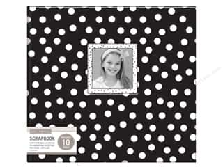 K & Company 12 x 12 in. Scrapbook Window Album Dots Black & White