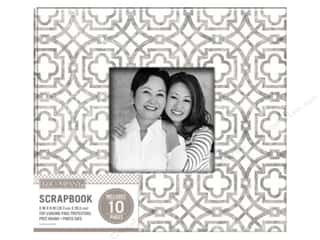 K & Company 8 x 8 in Scrapbook Window Album Geo Gray