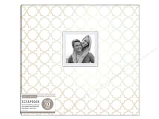 "Memory Albums / Scrapbooks / Photo Albums: K&Company Scrapbook Album 12""x 12"" Window Quatrefoil Pearl White"