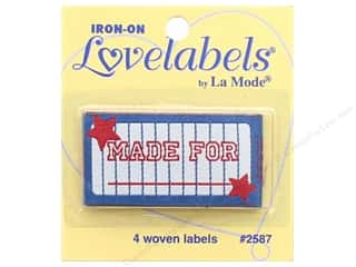 Blumenthal Iron-On Lovelabels 4 pc. Made For with Red Stars