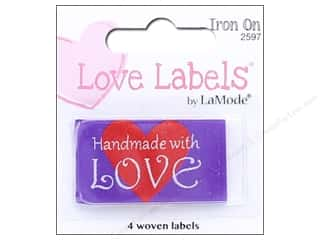 sewing & quilting: Blumenthal Iron-On Lovelabels 4 pc. Handmade With Love