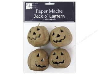 PA Paper Mache Jack O'Lantern Mini 4 pc.