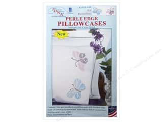 Jack Dempsey Pillowcase Perle Edge XX Butterflies