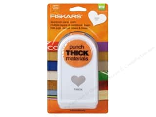 scrapbooking & paper crafts: Fiskars Thick Materials Punch 1 1/2 in. Heart