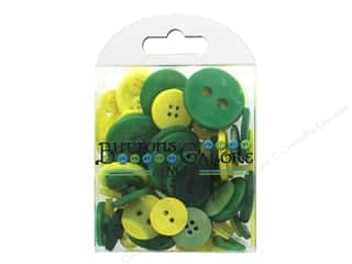 Buttons Galore Button Totes 3.5 oz. Green & Yellow