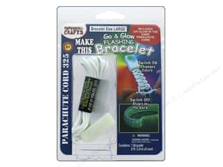 beading & jewelry making supplies: Pepperell Parachute Cord Go & Glow Flashing Bracelet Kit Large