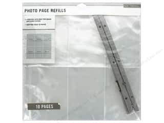 "k & company chipboard: K&Company Page Protector Refill Kit Photo Page 12""x 12"" 10pc"