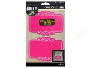 K&Company Chalk It Now Chalkboard Label Scroll Hot Pink