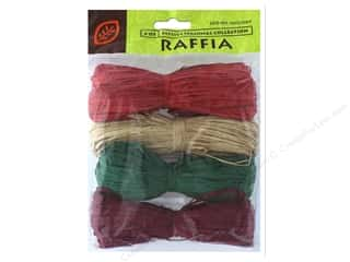 JMS Raffia Christmas Collection 4 Color Total 4oz