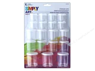 storage : Loew Cornell Simply Art Storage Cups 19pc