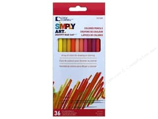 colored pencils: Loew Cornell Simply Art Colored Pencils 36pc