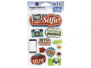 Paper House Sticker 3D Time For A Selfie