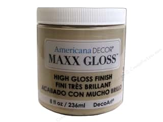 craft & hobbies: Decoart Americana Decor Maxx Gloss 8 oz. Cappucino