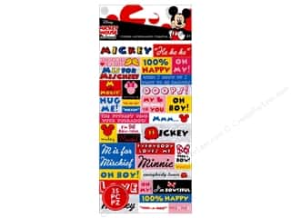 EK Disney Sticker Words Mickey & Minnie
