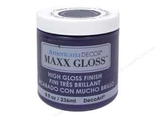 craft & hobbies: Decoart Americana Decor Maxx Gloss 8 oz. Purple Polish