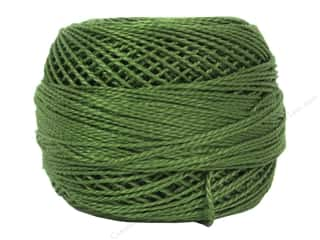 yarn & needlework: DMC Pearl Cotton Ball Size 8 #3346 Hunter Green (10 balls)