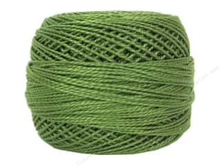 yarn & needlework: DMC Pearl Cotton Ball Size 8 #3347 Medium Yellow Green (10 balls)