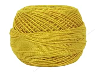 yarn & needlework: DMC Pearl Cotton Ball Size 8 #444 Dark Lemon (10 balls)