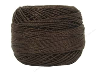 yarn & needlework: DMC Pearl Cotton Ball Size 8 #0898 Very Dark Coffee Brown (10 balls)