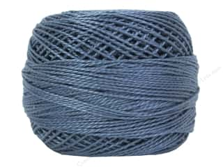 yarn: DMC Pearl Cotton Ball Size 8 #0931 Medium Antique Blue (10 balls)
