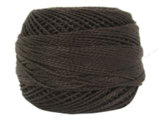 yarn & needlework: DMC Pearl Cotton Ball Size 8 #938 Ultra Dark Coffee Brown (10 balls)