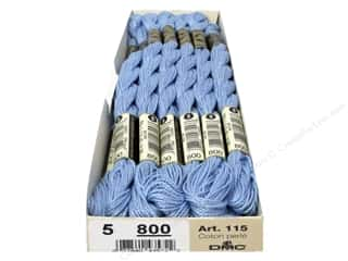 yarn & needlework: DMC Pearl Cotton Skein Size 5 #800 Pale Delft Blue (12 skeins)