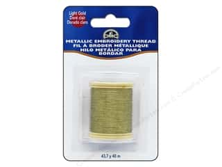DMC Metallic Embroidery Thread 44 yd. Light Gold
